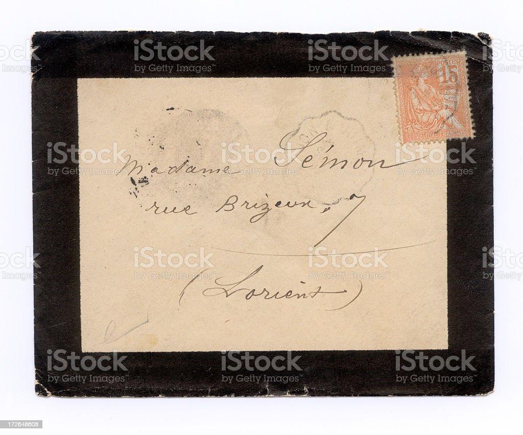 French envelope royalty-free stock photo