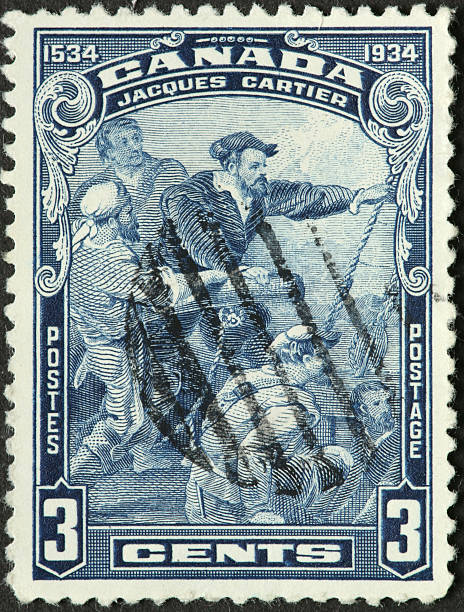 French explorer Jacques Cartier stock photo