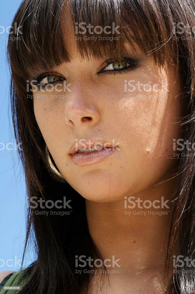 French fashion model - closeup royalty-free stock photo