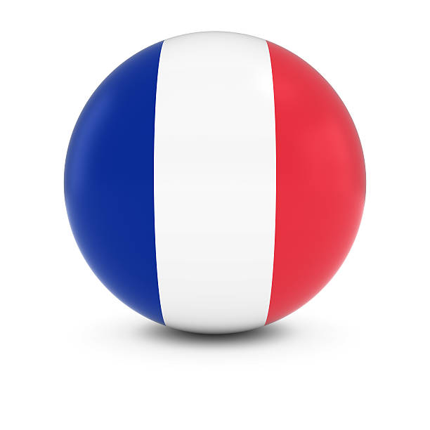Cтоковое фото Французский флаг мяч флаг Франции на изолированных сфере