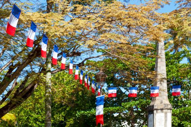 Bruant de Bastille day du pavillon Français - Photo