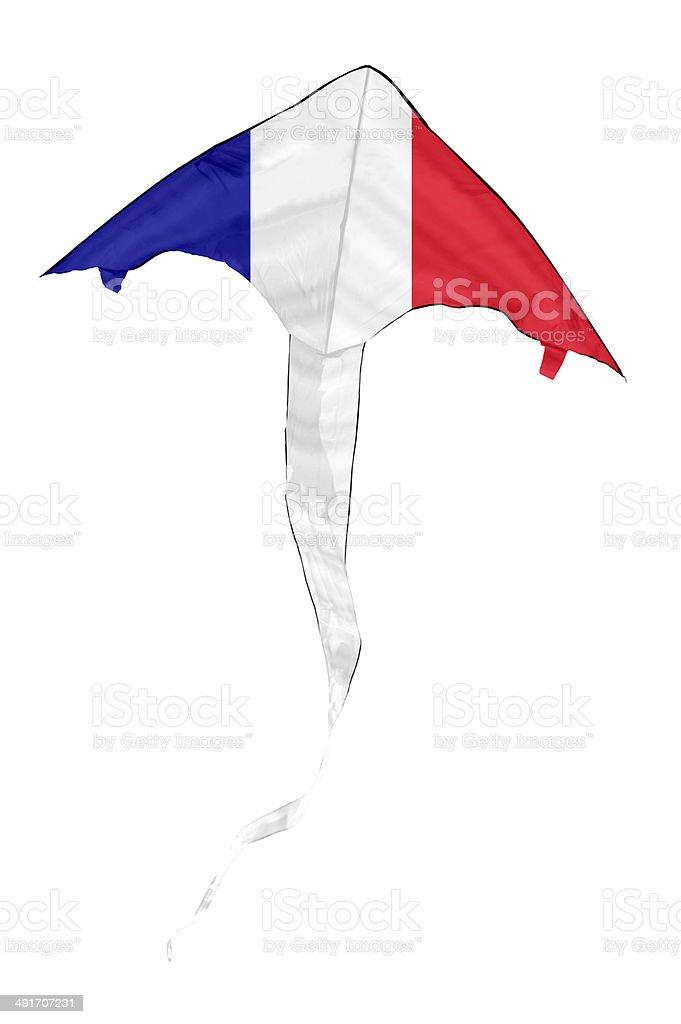 French  Flag Kite stock photo