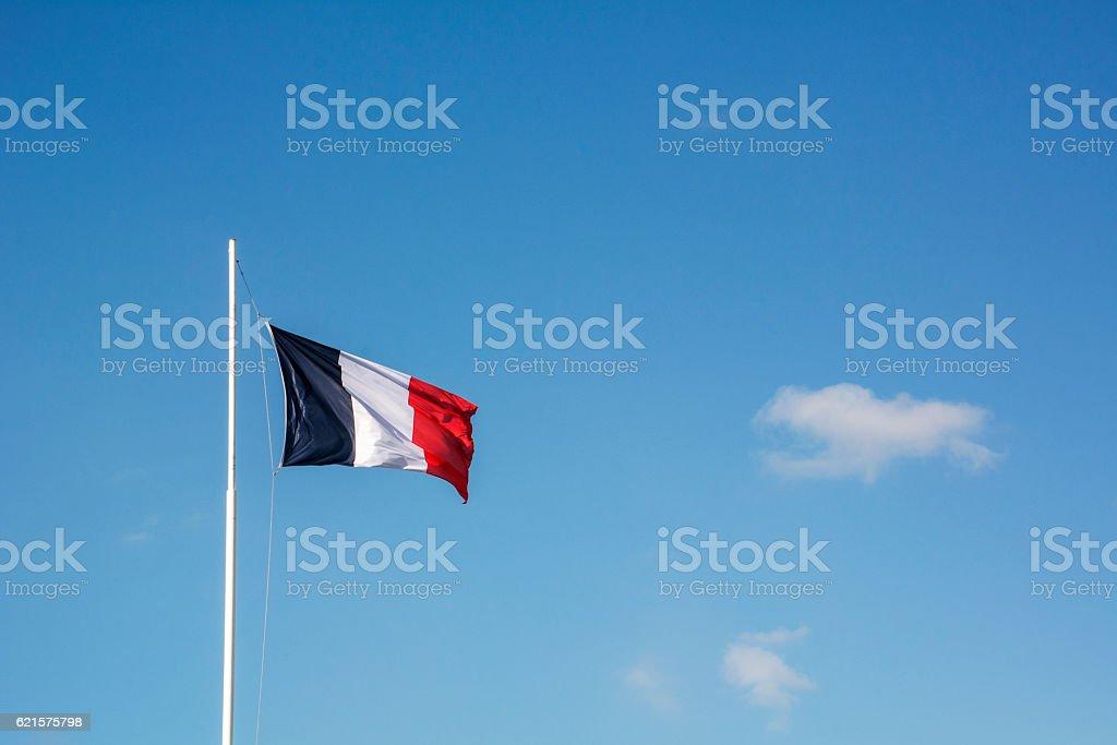 French flag with blue sky photo libre de droits