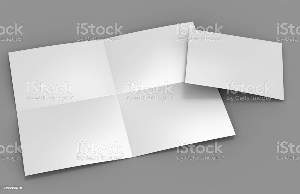 french fold a4 a5 square brochure flyer leaflet for mock up and