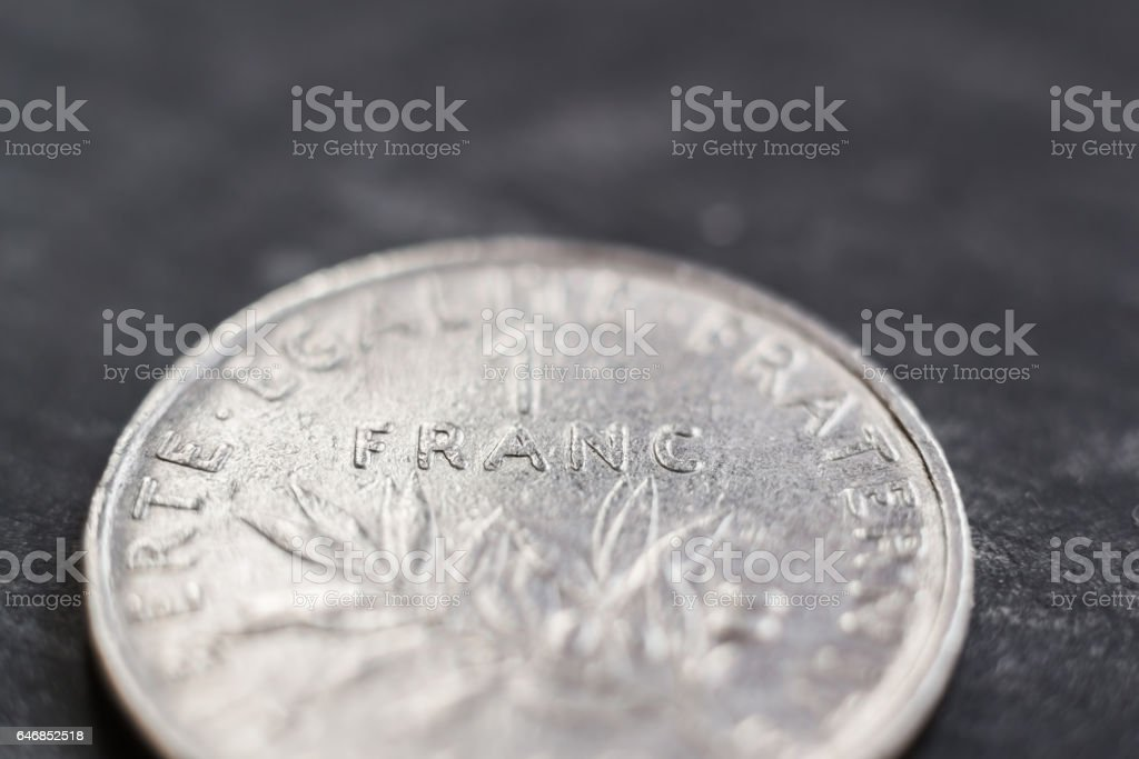 French franc stock photo