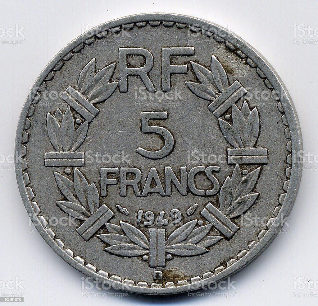 French Francs stock photo