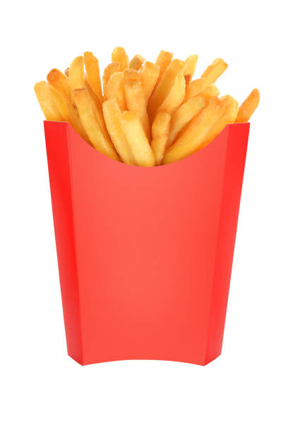 French Fries Box Isolated Stock Photo
