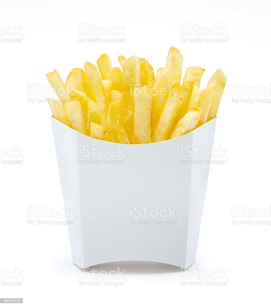 French Fries in Unlabeled Pack royalty-free stock photo