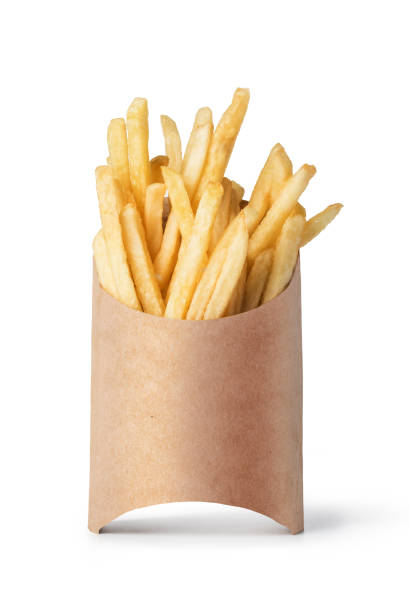 franse frietjes geïsoleerd op wit - patat stockfoto's en -beelden