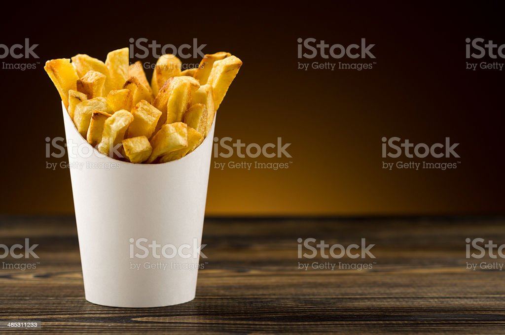 French fries packaging paper royalty-free stock photo