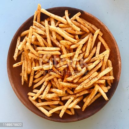 A plate of french fries