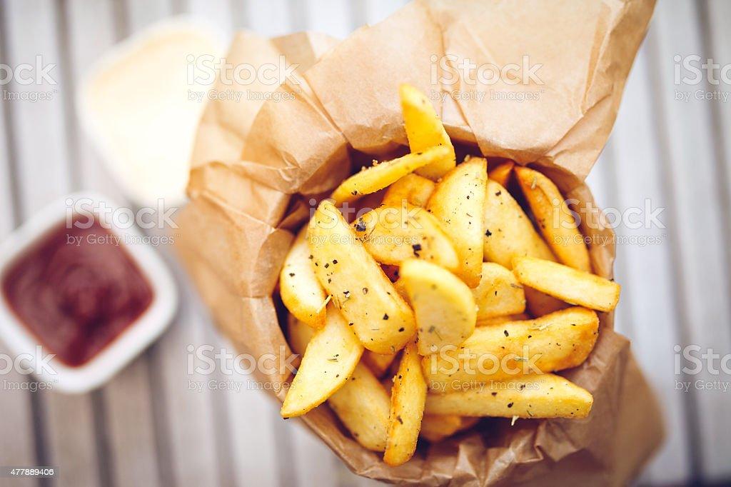 Patatas fritas - foto de stock