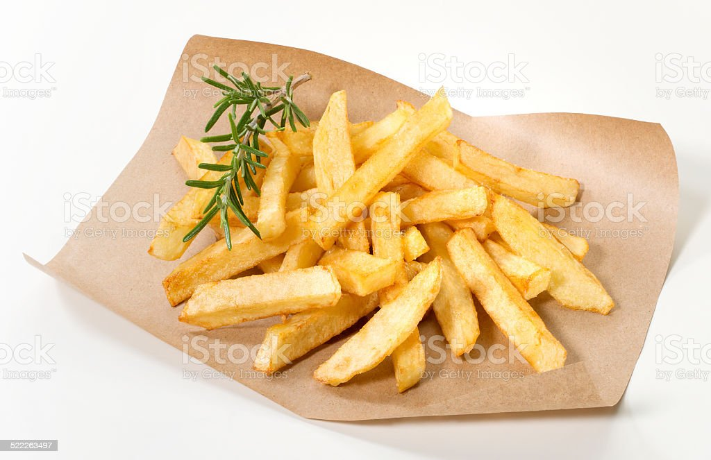 French fries(+clipping path) stock photo