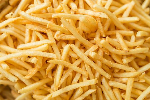 french fries - patat stockfoto's en -beelden