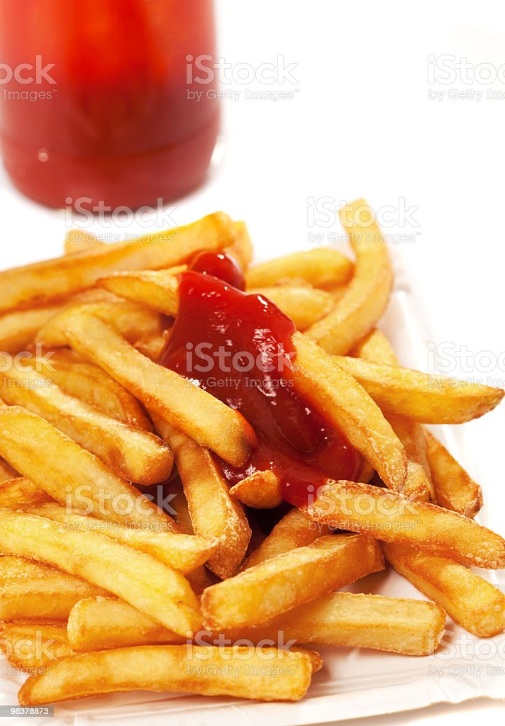 Patatine fritte foto stock royalty-free