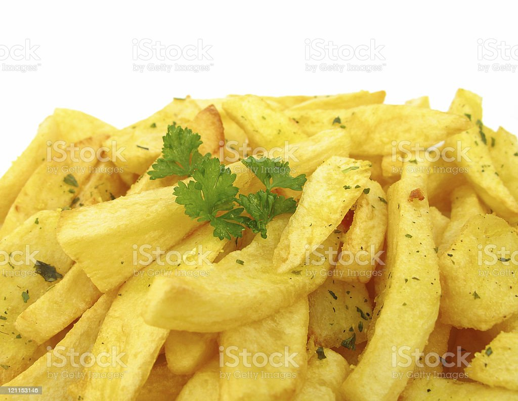 French fries potatoes stock photo