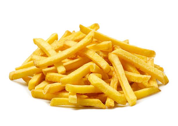 french fries side dish - patat stockfoto's en -beelden