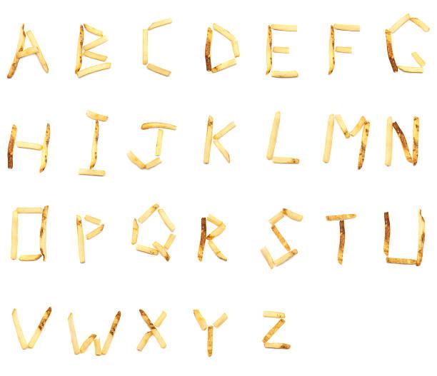 french fry alphabet (xxxl) - ruth 個照片及圖片檔