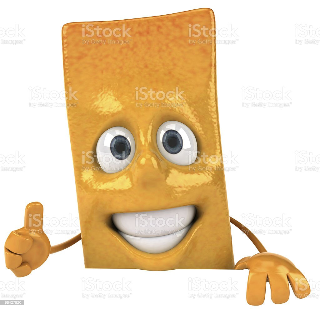 French fry with a blank sign royalty-free stock photo