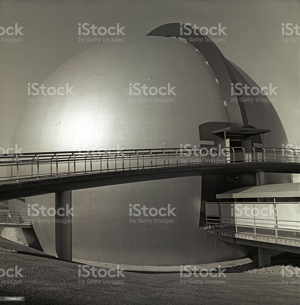French futuristic architecture royalty-free stock photo