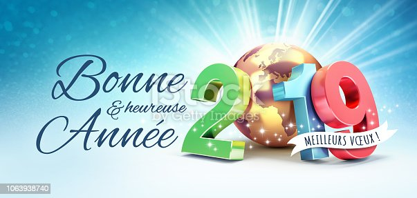 istock French Greeting card 2019 for the best 1063938740