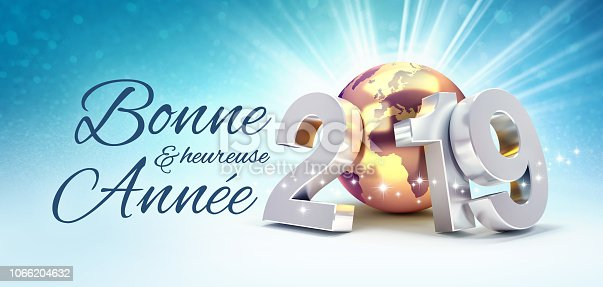 istock French Greeting card 2019 symbol for the success 1066204632