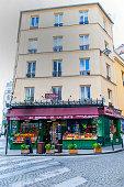 Paris, France - April 24, 2018: 'Amelie Poulain' movie's grocery, La Butte, Montmartre