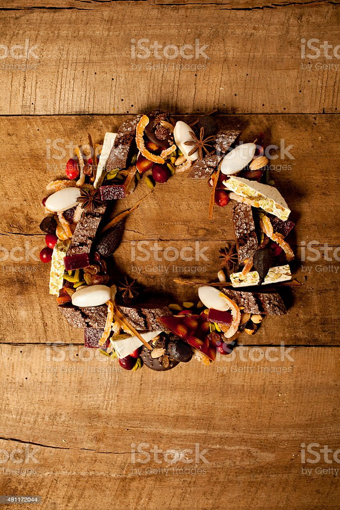 French Holiday Desserts stock photo