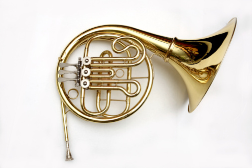 A French Horn Isolated On A White Background Stock Photo ...