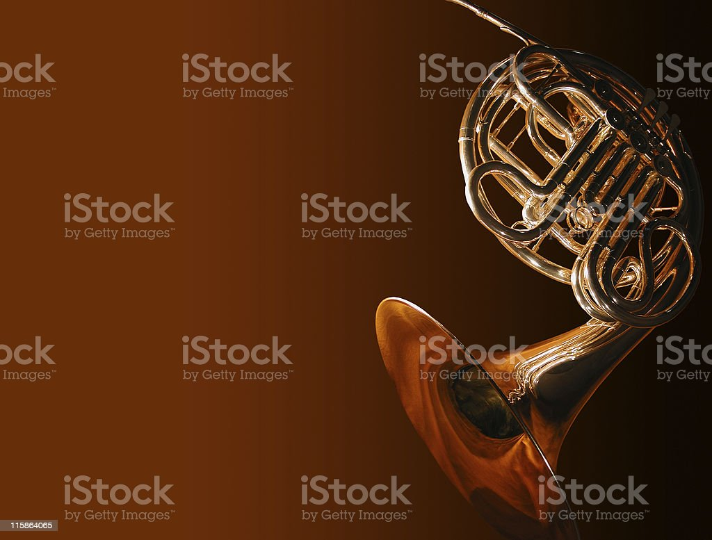 french horn3 (with path) royalty-free stock photo