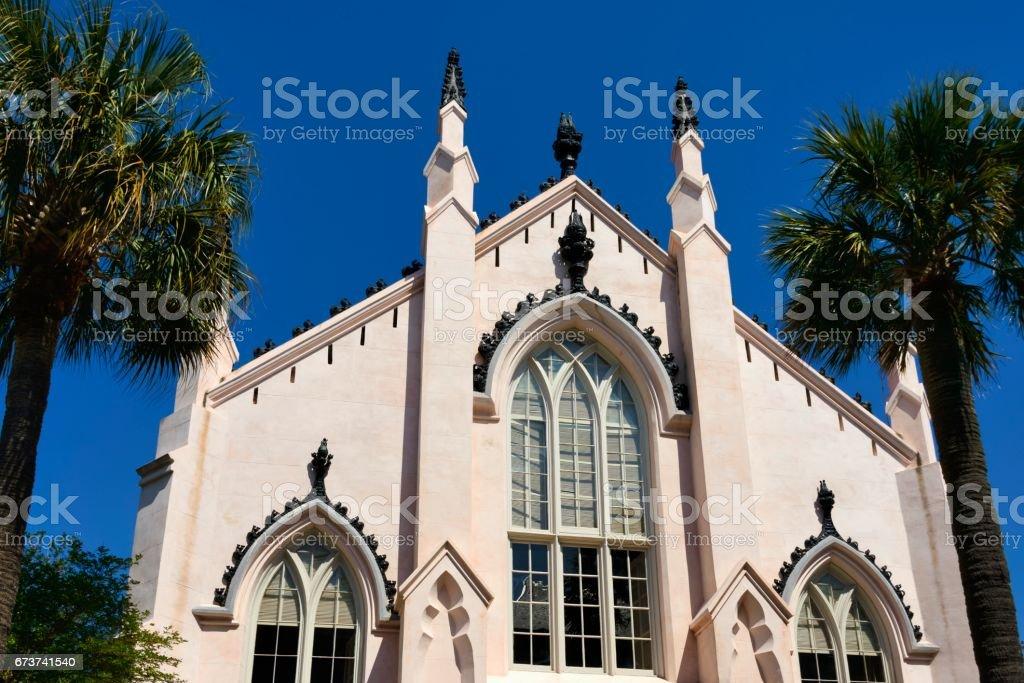 Fransızca Huguenot Kilisesi, Charleston, Güney Karolina royalty-free stock photo