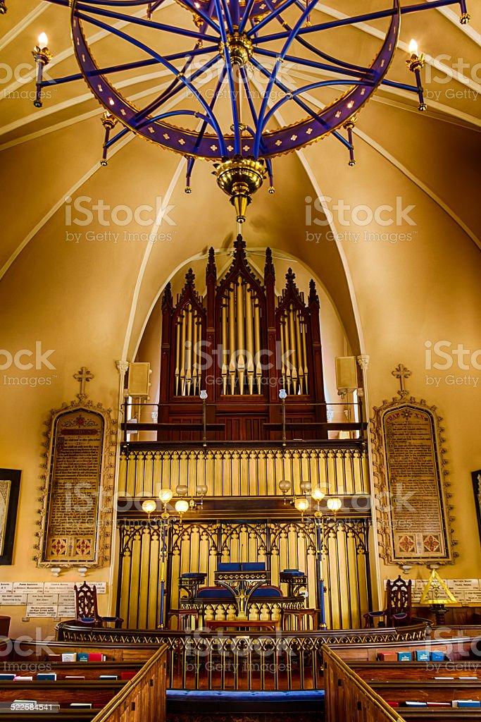 French Huguenot Church in Charleston, SC stock photo