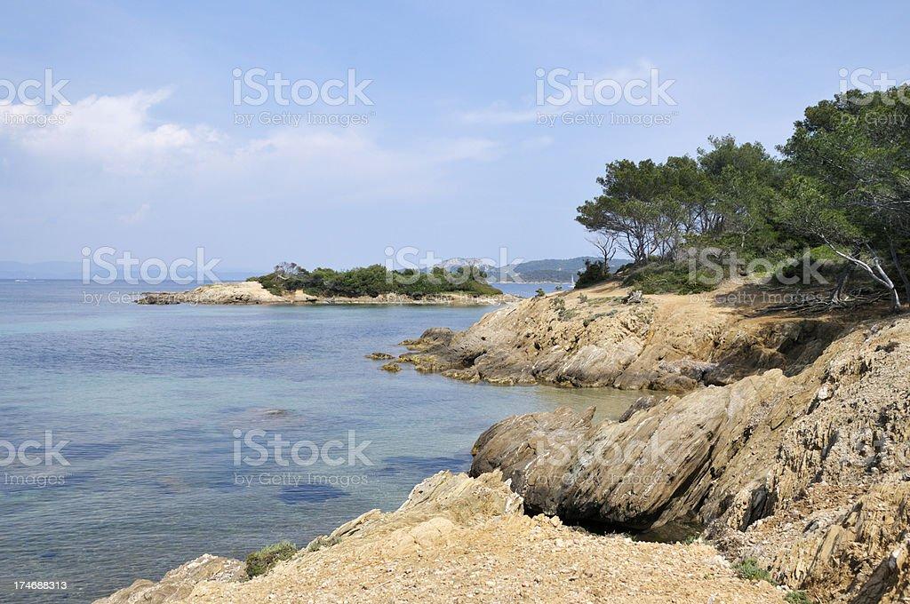 French island of Porquerolles stock photo