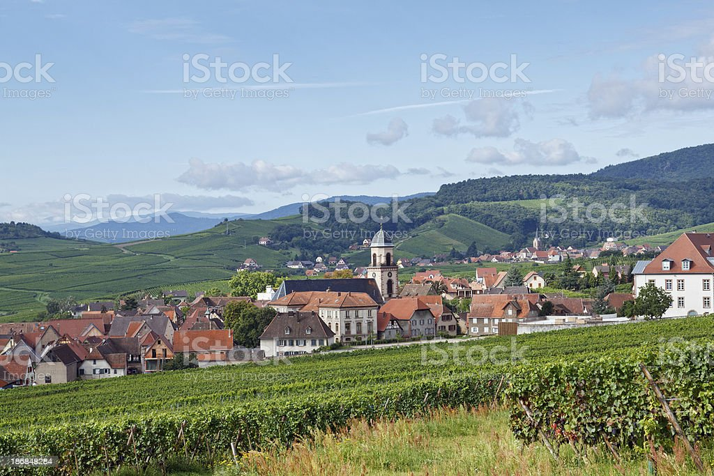 French Landscape: Village in Alsace royalty-free stock photo