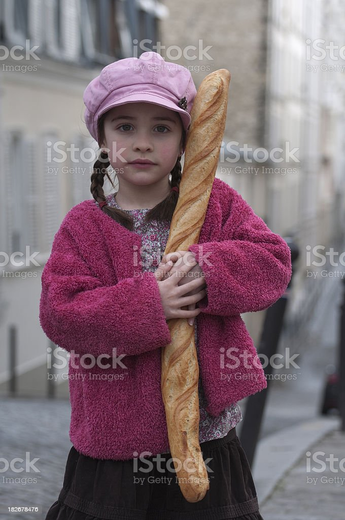 French little girl royalty-free stock photo