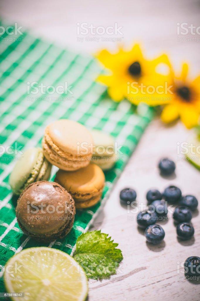 Fransızca macaroons. royalty-free stock photo