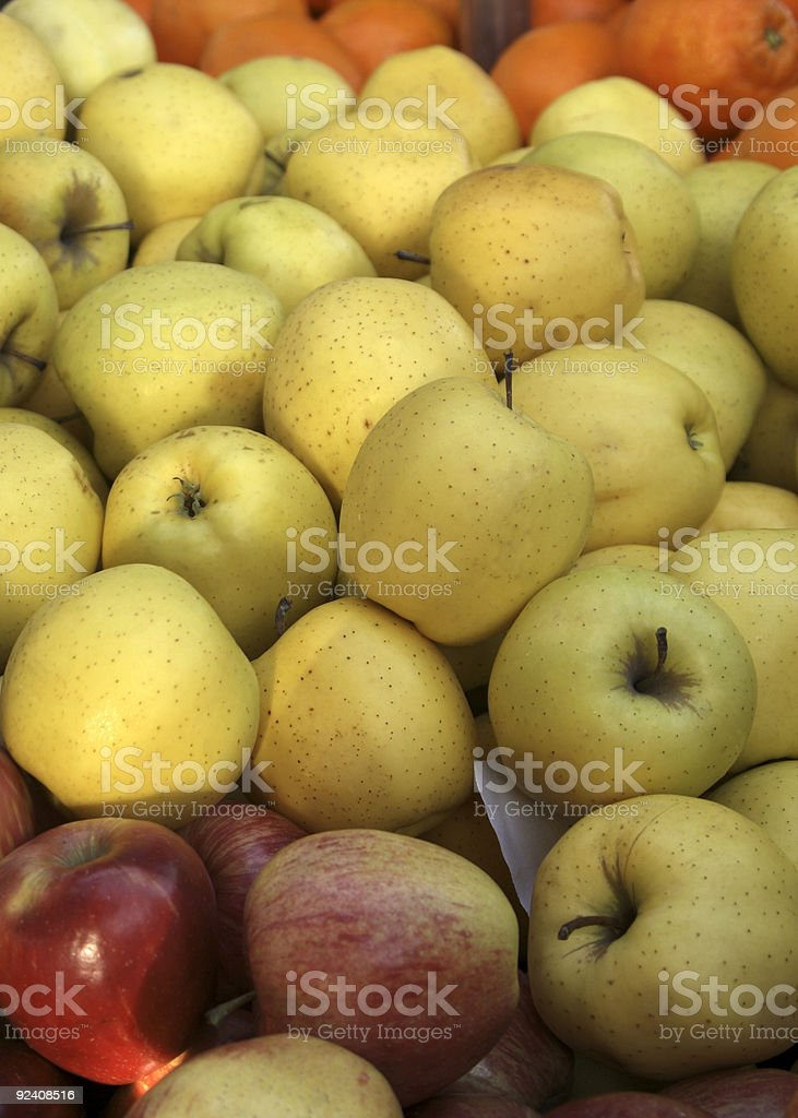 French market apples royalty-free stock photo