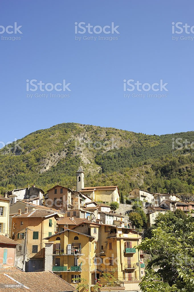 French Medieval Village, Lantosque stock photo