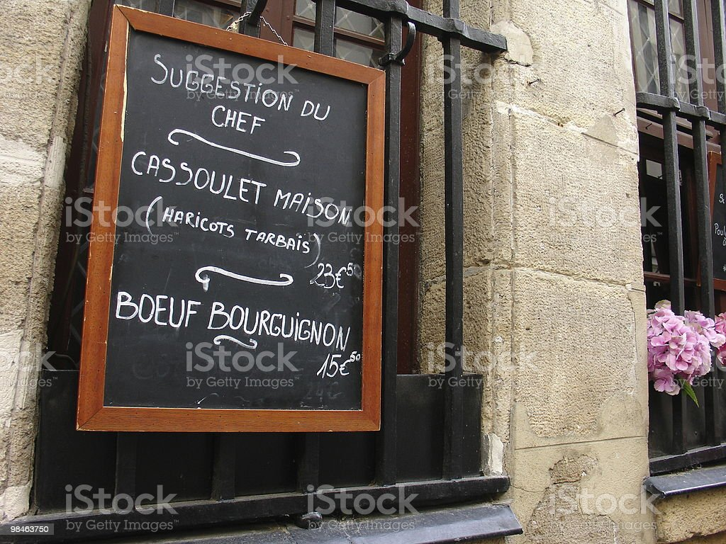 French Menu Paris royalty-free stock photo