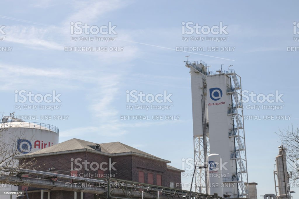 French multinational company Air Liquide which supplies industrial gases and services stock photo