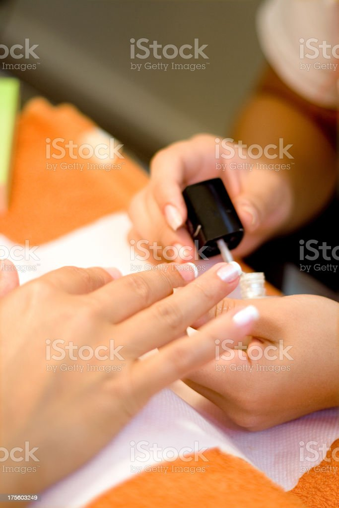 French nails royalty-free stock photo