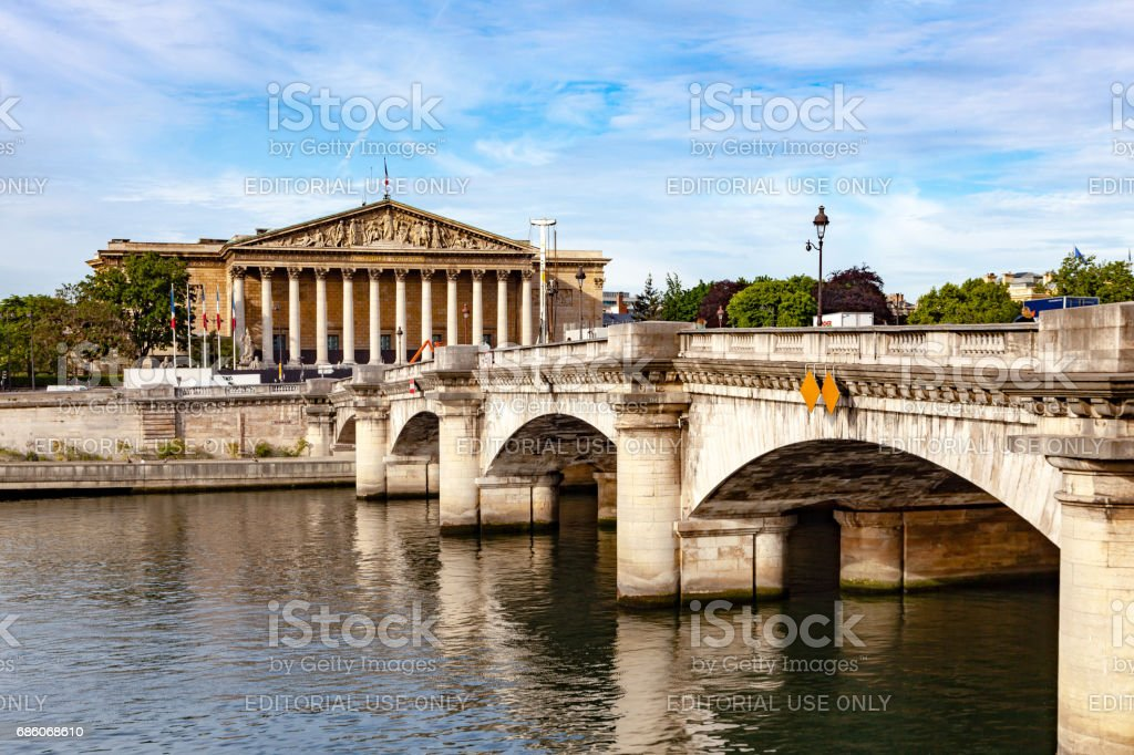 French National Assembly stock photo