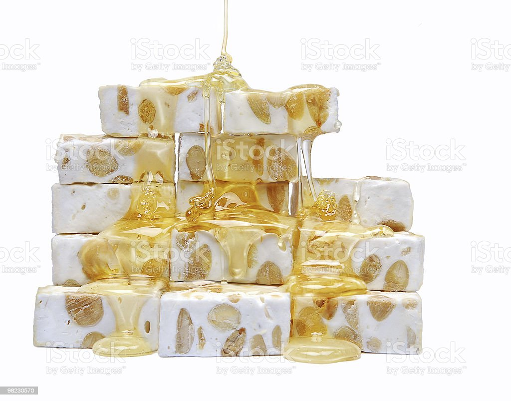 French nougat and honey royalty-free stock photo