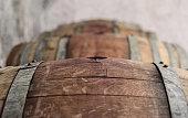 French Oak Wine Barrel in Beaujolais Wine cellar, in Selene Estate