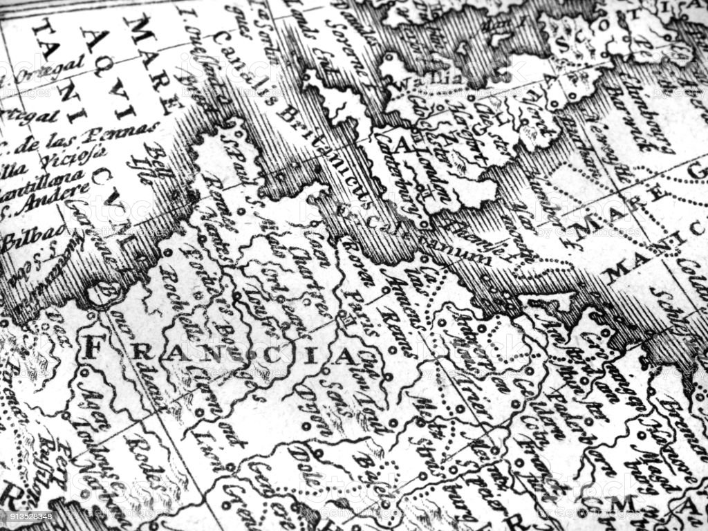 french old map stock photo more pictures of 18th century istock 18th Century Military french old map royalty free stock photo