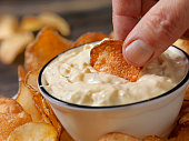 French Onion Dip with Hand Made Potato Chips