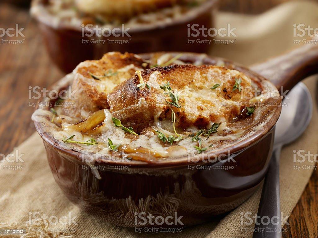 Französische Zwiebelsuppe – Foto