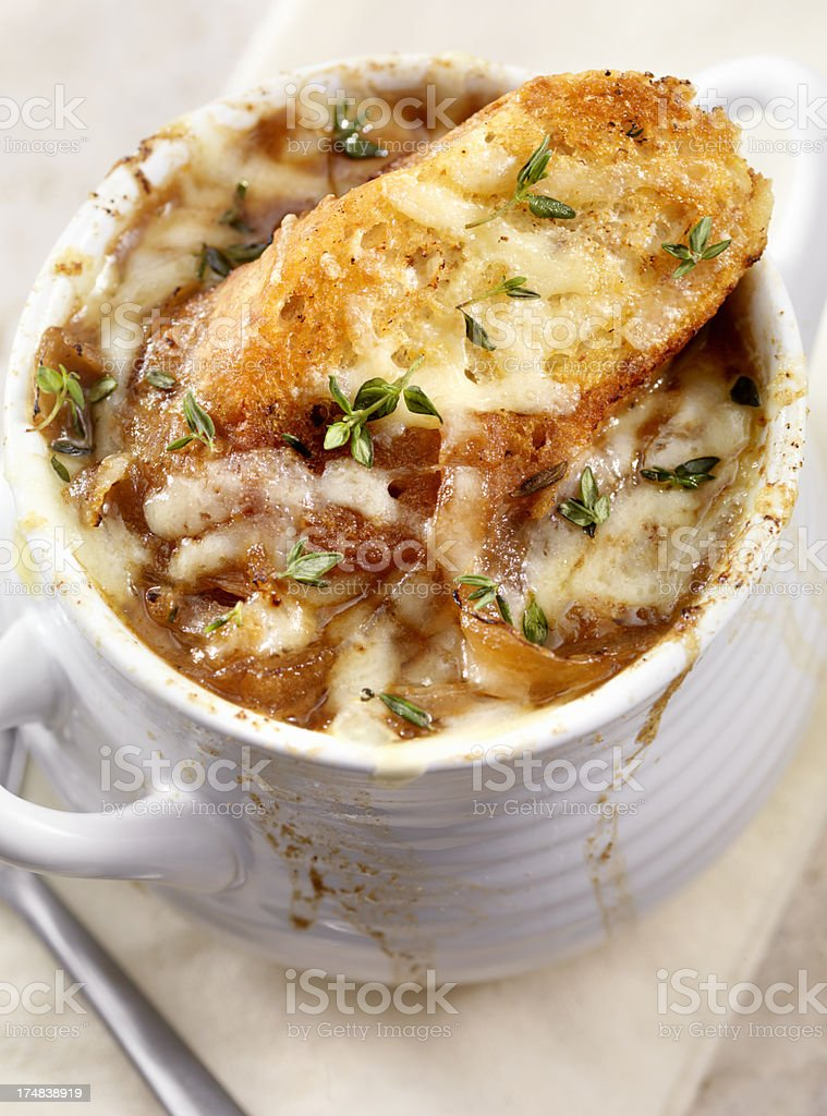 French Onion Soup royalty-free stock photo