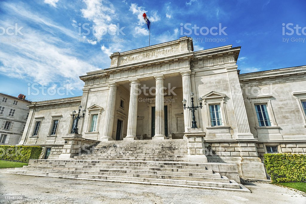 French Palais de Justice in City of Saintes royalty-free stock photo
