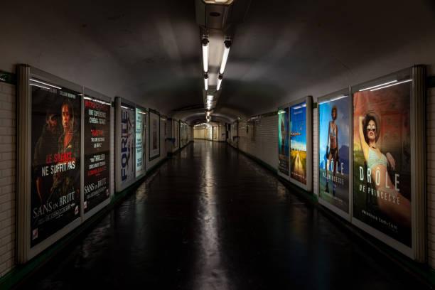 French parisian subway stock photo